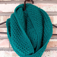 Emerald Wool Infinity Scarf