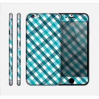 The Vintage Blue & Black Plaid Skin for the Apple iPhone 6