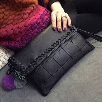 Red Knitted Real leather Women's Wristlets Clutch Bag Famous Brands Shoulder Designer Evening Day Clutch Quilted Flap Bag