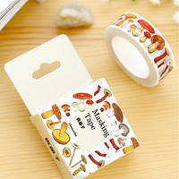 1.5cm*10m Various Mushroom washi tape DIY decoration scrapbooking masking tape adhesive tape kawaii stationery