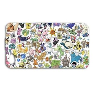 Cute Funny Pokemon Collage Pikachu Phone Case iPhone 4 4s 5c 5 5s 6 6s Plus New