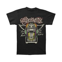 Aerosmith Men's  Let The Music Jukebox T-shirt Black