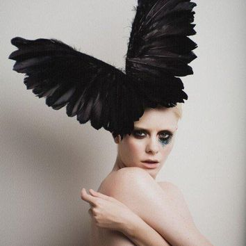 Couture Black Wings Headpiece By Arturorios On Etsy