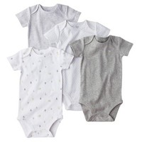 Just One You™ by Carter's® Newborn 4-Pack Bodysuit - Grey