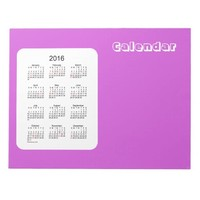 2016 Lilac Calendar by Janz Notepad