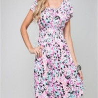 Addie -- Pink Spotted Dress