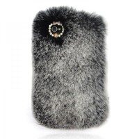 Grey Furry Rhinestone IPhone 4 / 4S.. on Luulla