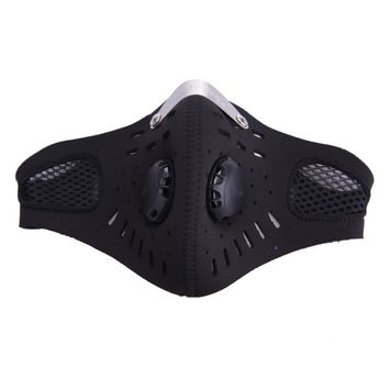 Outdoor Cycling  Ski Mask With Filter Half Helmet Face Carbon Mask Dust Mask Anti-pollution Bicycle Bike Training Mask Ciclismo