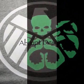 Avengers Agents of SHIELD / HYDRA Hidden Agenda Glow In The Dark T-Shirt. available in Multiple Colors.