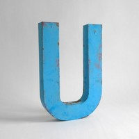 Metal Letter U  Signage by Hindsvik on Etsy