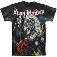 Iron Maiden Men's  Sketched NOB AO T-shirt Black Rockabilia