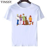 Brand Clothihng Top Quality Fashion O-Neck Short Sleeve Toddler Scooby Doo Family Fashion T Shirts For Men 2017