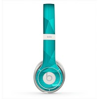 The Blue Geometric Pattern Skin for the Beats by Dre Solo 2 Headphones