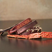 Stack of Leather Bracelets, you get all Five, Destash, Supply, Leather, Hippie