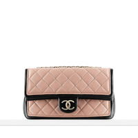 Two-tone calfskin flap bag - CHANEL