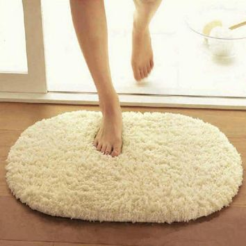 40x60cm Bathroom Carpets Absorbent Soft Memory Foam Doormat Floor Rugs Oval Non slip Bath Mats Plain Rug tapete banheiro