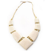 Archer Necklace White