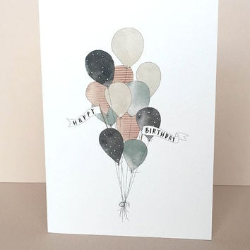 Birthday Balloons Greeting Card by In The Daylight