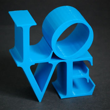 3D Printed Home Decor LOVE Block Sculpture Pop Art Iconography Kitsch Poems Iconic Image Letters Alphabet