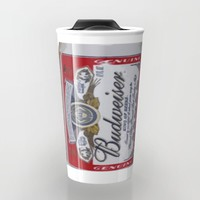 Budweiser Beer Can Travel Mug by Neon Monsters