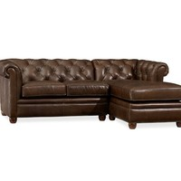 Alessia leather 3 piece sectional sofa from macys cabin for Alessia leather chaise