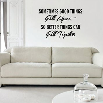 Marilyn Monroe So Better Things Can Fall Together Quote Decal Sticker Wall Vinyl Decor Art