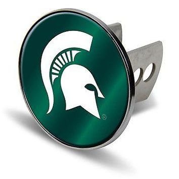 "Michigan State Spartans Metal 2"" Hitch Cover Laser Cut Acrylic Logo University"