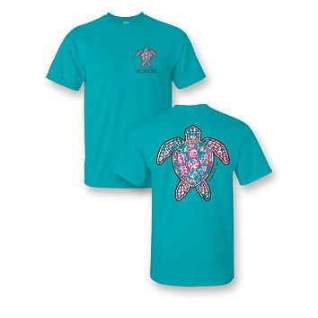 Sassy Frass Snappy The Turtle Sealife Girlie Bright T Shirt