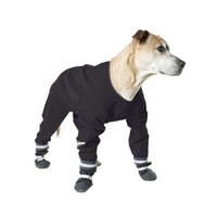 Muttluks Four Legged Dog Jog Rainsuit, Size 16, Black