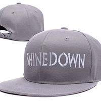 ZZZB Shinedown Band Logo Adjustable Snapback Caps Embroidery Hats - Grey