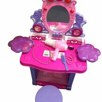 Princess Pretend Play B/O Toy Beauty Mirror Vanity Play Set w/ Flashing Lights