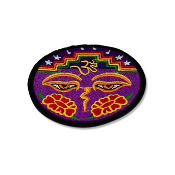 Psychedelic Ohm Patch Iron On Embroidered Patches