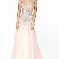 Floor Length Off the Shoulder Dress by Angela and Alison
