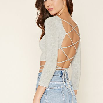 Lace-Up Crop Top | Forever 21 - 2000204518