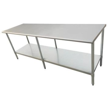 "Stainless Steel Work Prep Table 30"" x 84"" with Undershelf"
