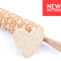 Border terrier - Embossed, engraved rolling pin for cookies