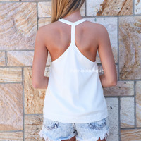 HIGH NECK TOP , DRESSES, TOPS, BOTTOMS, JACKETS & JUMPERS, ACCESSORIES, 50% OFF SALE, PRE ORDER, NEW ARRIVALS, PLAYSUIT, COLOUR, GIFT VOUCHER,,White,SLEEVELESS Australia, Queensland, Brisbane