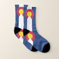 All Over Print Socks with Flag of Colorado