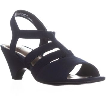 Impo Estella Ankle Strap Strappy Sandals, Navy, 6 US