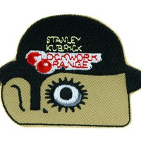 A Clockwork Orange Patch Iron on Applique Alternative Clothing Stanley Kubrick