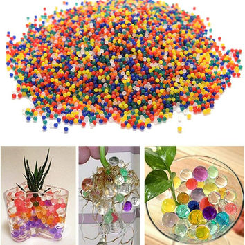 10000pcs Bag Pearl Crystal Shape Water Beads Bio Gel Ball Grow Magic Jelly Balls Free Shipping