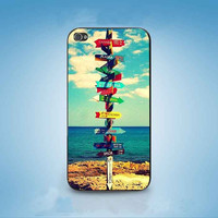 Direction Sign customized for iphone 4/4s/5/5s/5c ,samsung galaxy s3/s4/s5 and ipod 4/5 cases