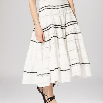 Maje Skirt - Jeanne Full Embroidered