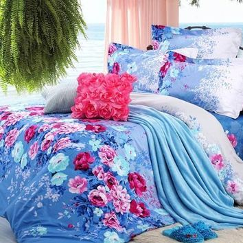 Diaidi Chic Blue Floral Rural Bedding From Amazon Things