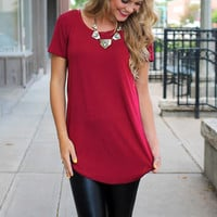 Get In My Closet Tunic - Burgundy