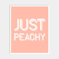 JUST PEACHY ART PRINT