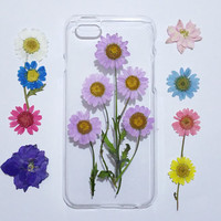 iPhone 6s Case, iPhone 6s Plus Case Clear, lilac Flower iPhone 6 Case,flower iPhone 6s Case, iPhone 6s Plus Case, pink daisy iphone 6 case