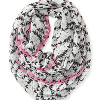 Aeropostale  Womens Perched Birds Infinity Scarf - Beige