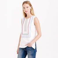 SLEEVELESS BEADED ZIP TOP
