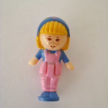 Vintage Polly Pocket Midge Figure Replacement Toy from Midge's Flower Shop Playset 1990 Miniature Clean Gently USED